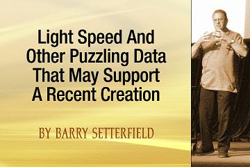 Light Speed and Other Puzzling Data